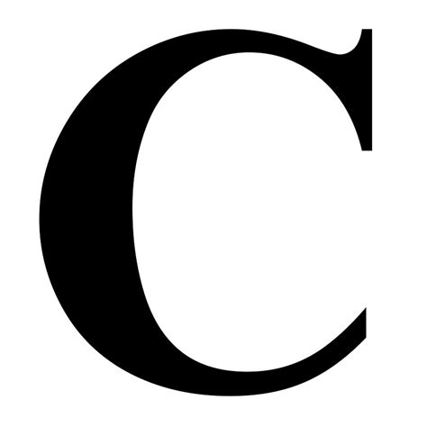 Letter For C Quot The Letter C In Black Times New Serif Font Typeface