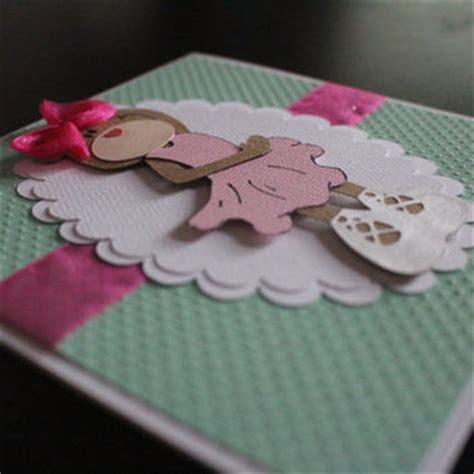 handmade 3d teddy card ballerina from pixicutcom on