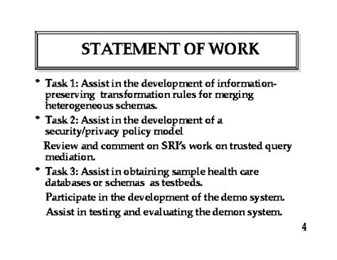 how to write a statement of work template fair work information statement 2013 template best