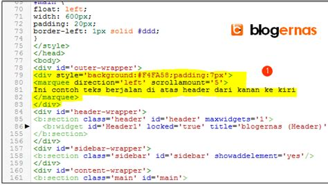 cara membuat teks berjalan di blog wordpress cara membuat teks berjalan di atas header blog blogernas