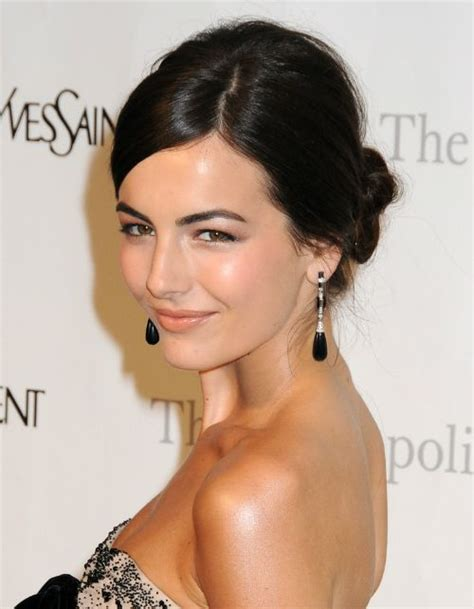 midway part hair updos camilla belle low bun with deep side part wedding hair