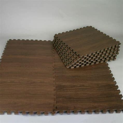 How To Clean Foam Puzzle Mat by New 9pc Wood Interlock Heavy Duty Foam Floor Puzzle Work