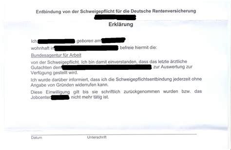 Vollmacht Schreiben Muster Jobcenter Schweigepflichtentbindung Wie Reagieren Erwerbslosen Forum Deutschland Elo Forum