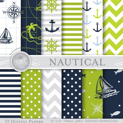 12 free seamless paper patterns graphicsfuel blue green nautical patterns 12 quot x 12 quot digital paper