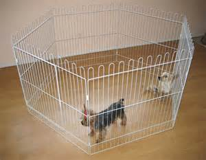 Indoor dog pen white exercise dog pen w door