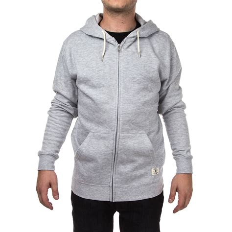Hoodie Zipper 3second dc rebel 3 zip hoodie grey