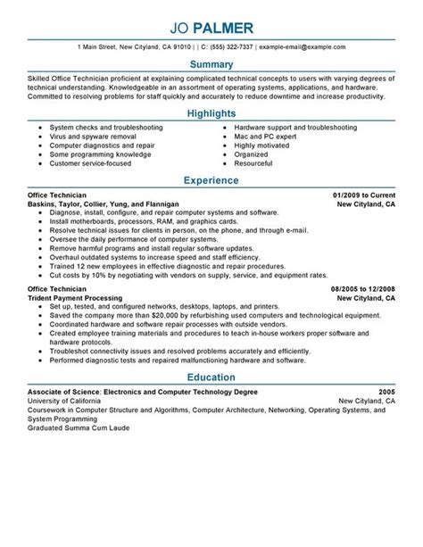 Office Technician Sle Resume by Repairman Resume 28 Images Auto Repair Resume Sle 1 Auto Mechanic Resume Automotive Manager