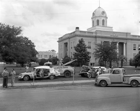 Gadsden County Court Records Florida Memory Car Wreck Set Up In Front Of The Gadsden County Courthouse In