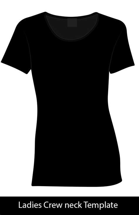 Ladies Crew Neck Template Free Download Crew Neck T Shirt Template