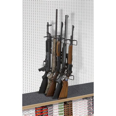 Pegboard Gun Rack by 1 5 Rifle Locking Leans Right Display Peg Board Sku