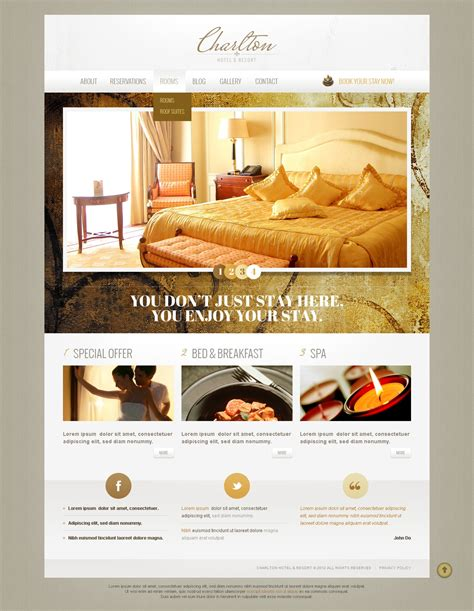 Hotel And Resort Business Drupal Template 42517 Hotel Review Template