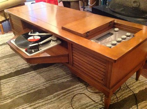 Livingroom Manchester 60s swingaway coffee table record player stuff in the