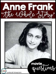 anne frank biography and questions anne frank diary of a young girl novel study literature