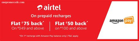 Can You Add Money To A Amazon Gift Card - amazon pay balance offer flat rs 75 cashback on airtel recharge