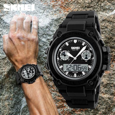 Skmei Jam Tangan Analog Digital Pria Ad1217 Hitam Biru skmei jam tangan analog digital pria ad1217 black