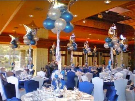 party themes with blue blue and white graduation decorations decoratons in blue