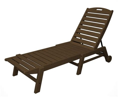 armless chaise lounge polywood nautical armless chaise lounge with wheels
