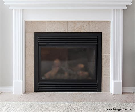 paint tile fireplace how to update a fireplace on a budget moneywise