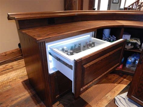 Shop Home Bars Oak Curved Home Bar Custom Home Bars