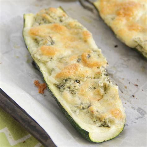 stuffed zucchini boats cream cheese spinach artichoke zucchini boats eat drink love