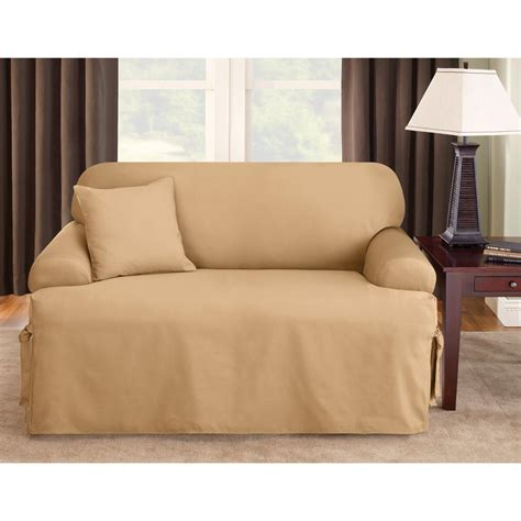 sure fit t cushion sofa slipcover sure fit 174 logan t cushion sofa slipcover 292833