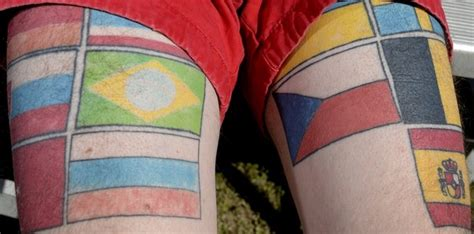 tattoo ideas for exchange students foreign exchange student host gets flag tattoos as mementos