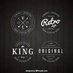 retro logo templates set of vintage logos in linear style vector free
