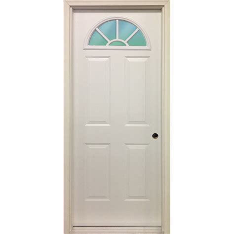 Exterior Metal Door 32 Quot Fan Lite Exterior Steel Door Unit Bargain Outlet