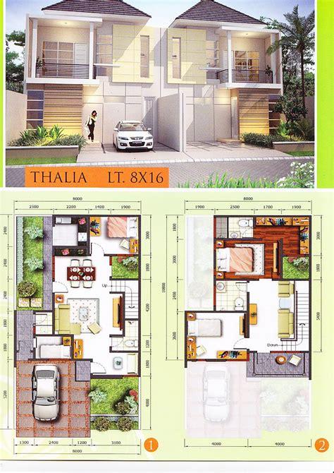 layout rumah lebar 8 denah lebar 8 meter gambar rumah idaman com