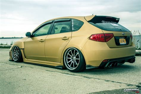 hatchback subaru stanced subaru impreza hatchback rear