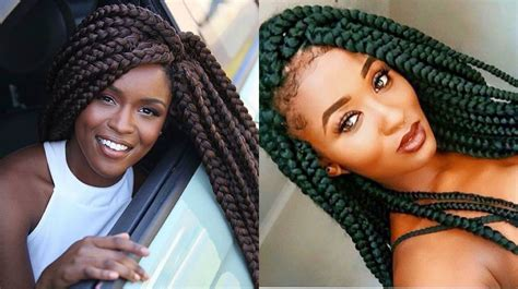 Big Braid Hairstyles by Big Box Braids For Black To Style Immediately