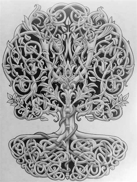 tattoo designs deviantart tree of with rod and snake by design