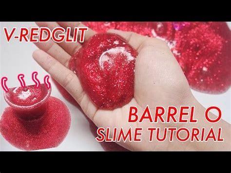 metallic slime tutorial indonesia enyoy enyoy vanila red glitter barrel o slime alert