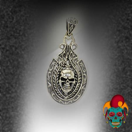 tattoo parlor earrings oval sphere skull silver pendant village tattoo nyc