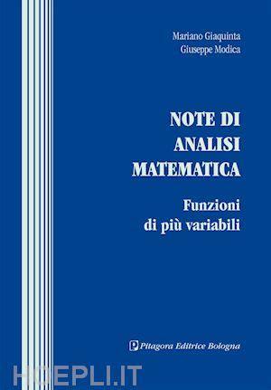 libreria pitagora bologna note di analisi matematica giaquinta mariano modica