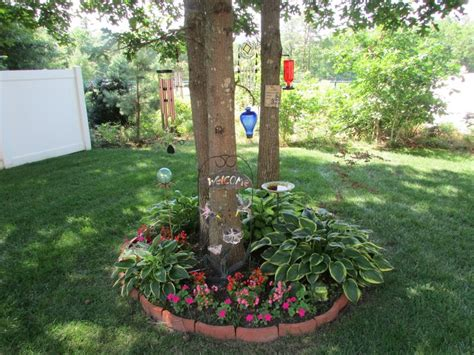 flower beds around trees small flower bed around tree cluster backyard pinterest