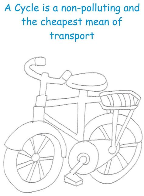 Cycle Printable Coloring Page For Kids Cycle Coloring Pages