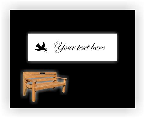 bench memorial plaques bench memorial plaque 4 quot x 1 5 quot product