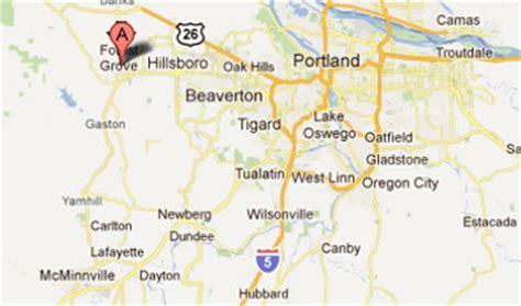 forest grove oregon map sighting reports 2011