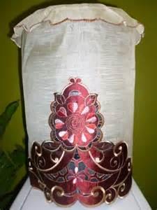 Sarung Galon Kulkas Cover Galon Kulkas Bordir Ameera Pink tutup galon organdi bordir organdi satin bordir