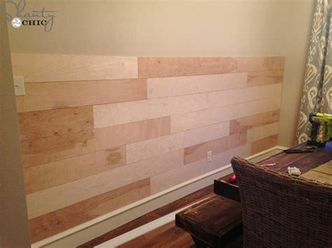 diy distressed plank wall shanty  chic