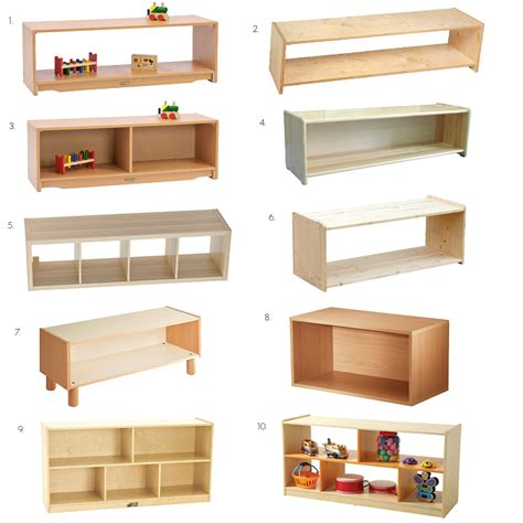 montessori low infant toddler shelves ideas and options
