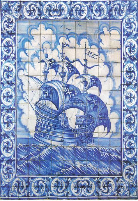 azulejos portugal portugal azulejos nau portuguesa blue white