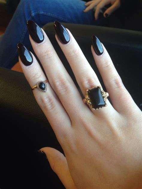black pattern nails 15 pointy nail designs for you to rock the holidays