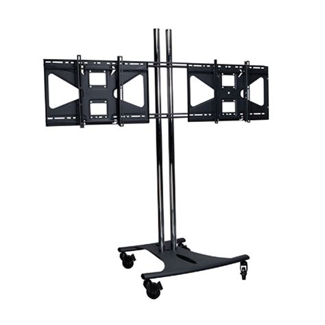premier mounts dual display combo floor stand for 37 63