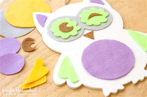 diy owl crafts diy busy board craft felt owl crafts unleashed