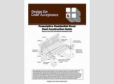 DCA 6 - Prescriptive Residential Wood Deck Construction Guide 2012 Irc Residential Building Code Pdf