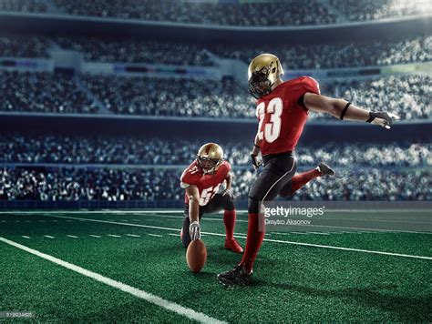 football as football american football kick off stock photo getty images