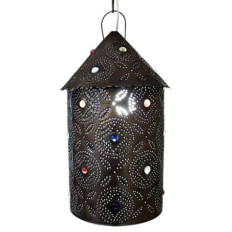 mexican tin lighting collection bell lantern w marbles