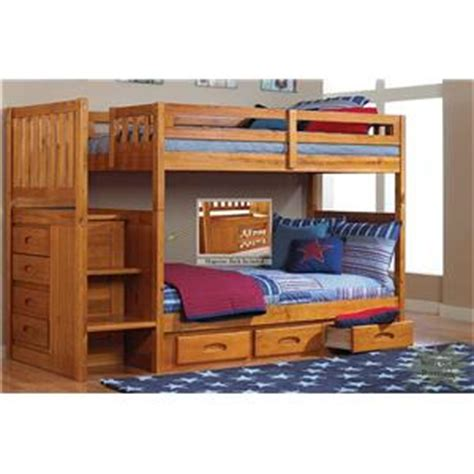 Discovery Bunk Bed Discovery World Furniture Honey Mission Youth Stair Stepper Bunk Bed With Rake